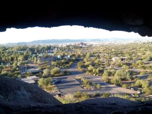Peering through the Hole-in-the-Rock