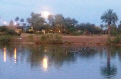 Moonrise in Tempe, Arizona