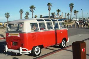 A Bug Bus Beautifully Restored - Californians Care About Their Car Culture!