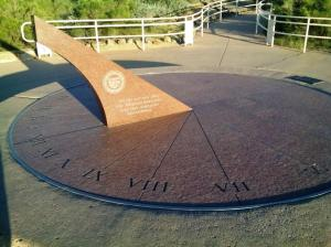 Sundial at the Rest Stop on Hwy 17